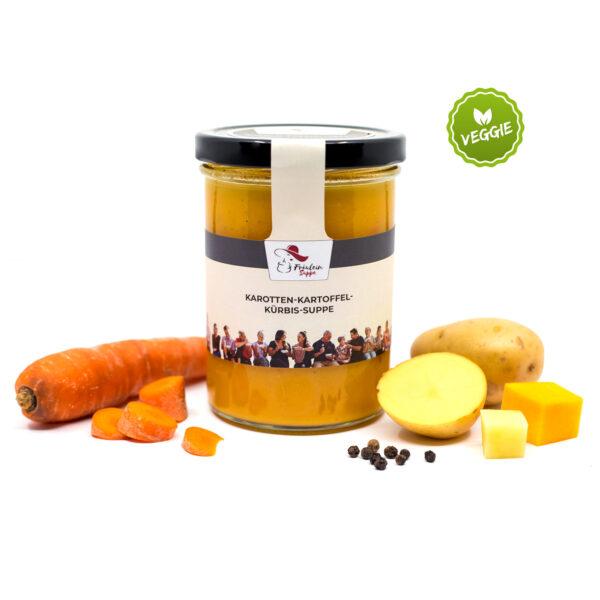 gesunde Karotten-Kartoffel-Kürbissuppe von Fräulein Suppe im Glas