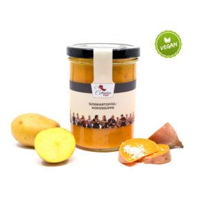 wohlschmeckende Süßkartoffel-Kokos-Suppe von Fräulein Suppe im Glas